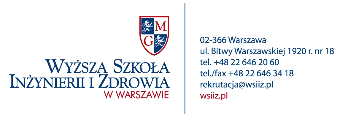Wyższa Szkoła Inżynierii i Zdrowia w Warszawie Logo